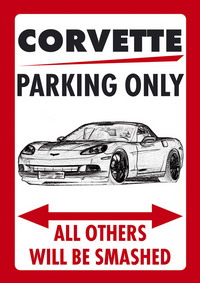 "Parkschild ""CORVETTE PARKING ONLY"""