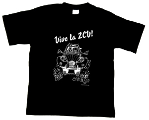 "Black ""VIVE LA 2CV!"" T-Shirt"