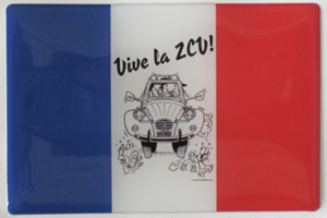 """Vive la 2CV"" 3D-Look Doming-Sticker"