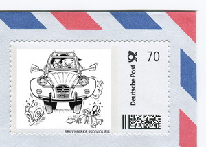 """Vive la 2CV"" Limited Edition postage stamp"