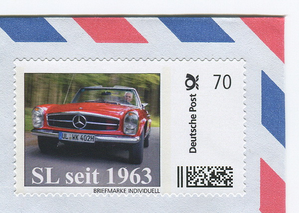 """SL seit 1963"" Limited Edition postage stamp"