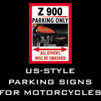 US-style parking signs for motorcycles