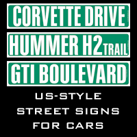 US-Style street signs for cars