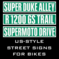 US-Style street signs for motorcycles
