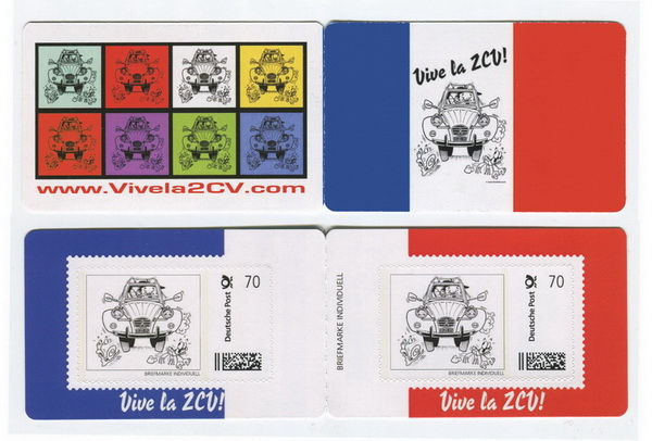 """Vive la 2CV"" Limited Edition postage stamp set"